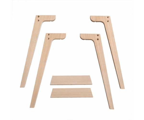 Extra feet for High Desk 72,6 cm WOOD By OLIVER FURNITURE