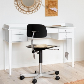 Seaside Junior Office Table - 74 cm By OLIVER FURNITURE - White