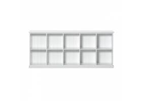 Bibliothèque basse 10 compartiments Seaside Junior Office - Blanc