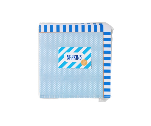 Blue Stripes ~Pack of 8 plates~