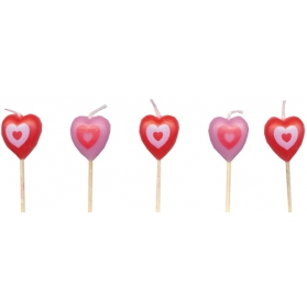 Candles ~Pink heart candles~