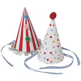 Set de 8 chapeaux Cirque avec des pompons