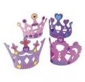 Activités Princesse - Set de 4 couronnes de Princesse en mousse à décorer
